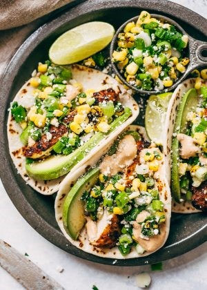 Southwest Dry Rubbed Chicken Thigh Street Tacos